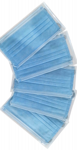 50-pc Individually Wrapped 3-Ply Face Masks