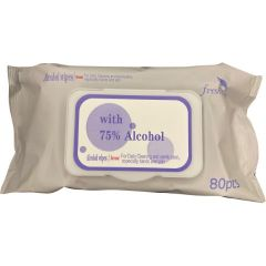 Neta Alcohol Wipes - 75% Ethyl Alcohol - FDA Approved - 80 PCS/PACK - 24 PK/CS